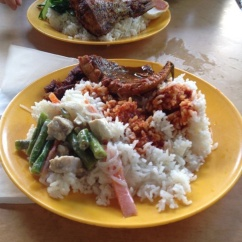 Mix d'un buffet dans la rue, Kuala Lumpur