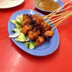 Brochettes de poulet, Jalan Alor, Kuala Lumpur