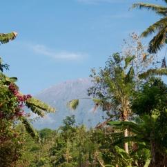 Vu sur le volcan Batur, Bali