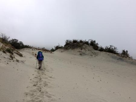 L'accès à la plage à 3900 m