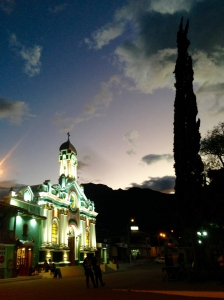 Eglise de Vilcabamba by night