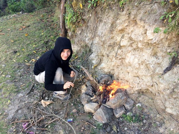 J'ai créé le feu!