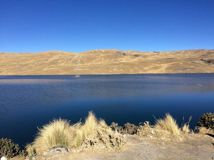 Joli lac près du départ