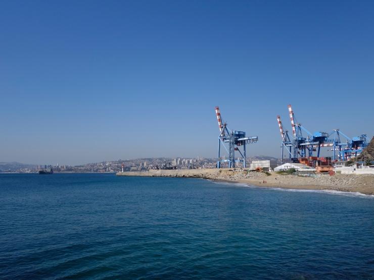 Les grues du port